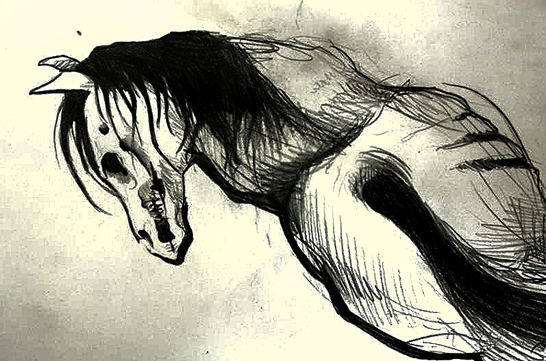 Zombie horse by Koteck...
