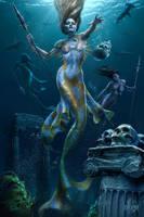 Mermaid Hunt by TomWoodFantasyArt