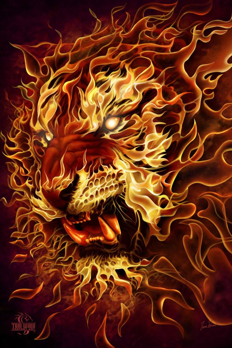 Fire Tiger by TomWoodFantasyArt on DeviantArt