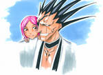 Kenpachi and Yachiru by jessicacicca