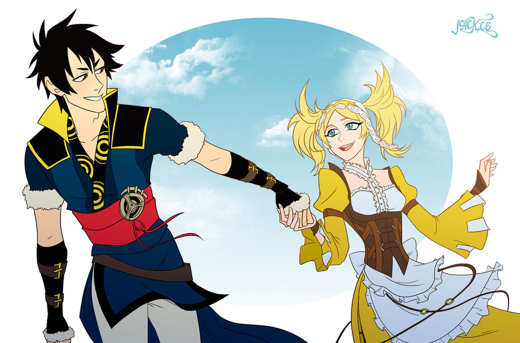 Comission: Lon'Qu and Lissa by Jackce-Art