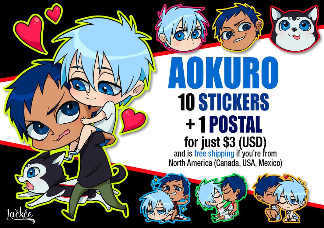 Aokuro stickers by Jackce-Art