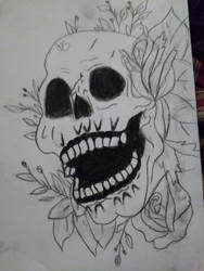 skull by drawingwithmeris