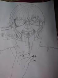 tokyo ghoul ken kaneki by drawingwithmeris