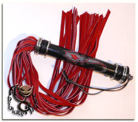 Suede Flogger and Inlay handle by tupali