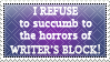 Writer's Block Stamp by Pseudinymous
