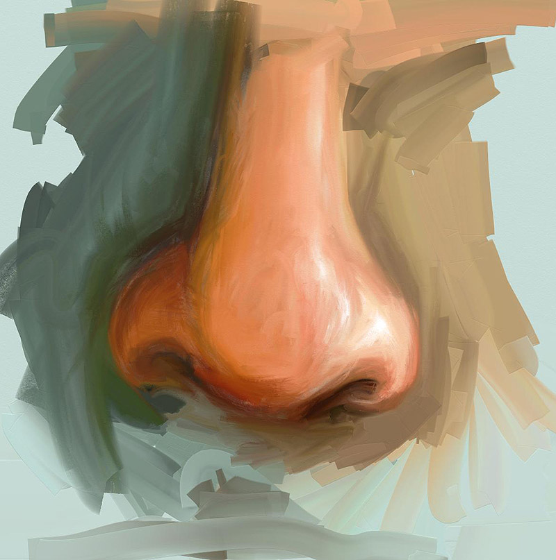 Nose painting by taylorswiftt13 on deviantart for How to paint a portrait in watercolor