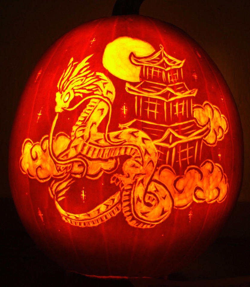 Dragon pumpkin carving by ciarra on deviantart