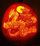 Dragon Pumpkin Carving 06