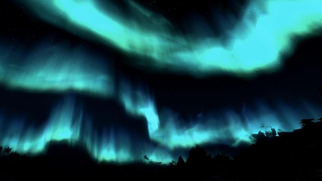 The Aurora Borealis [Skyrim background 2]