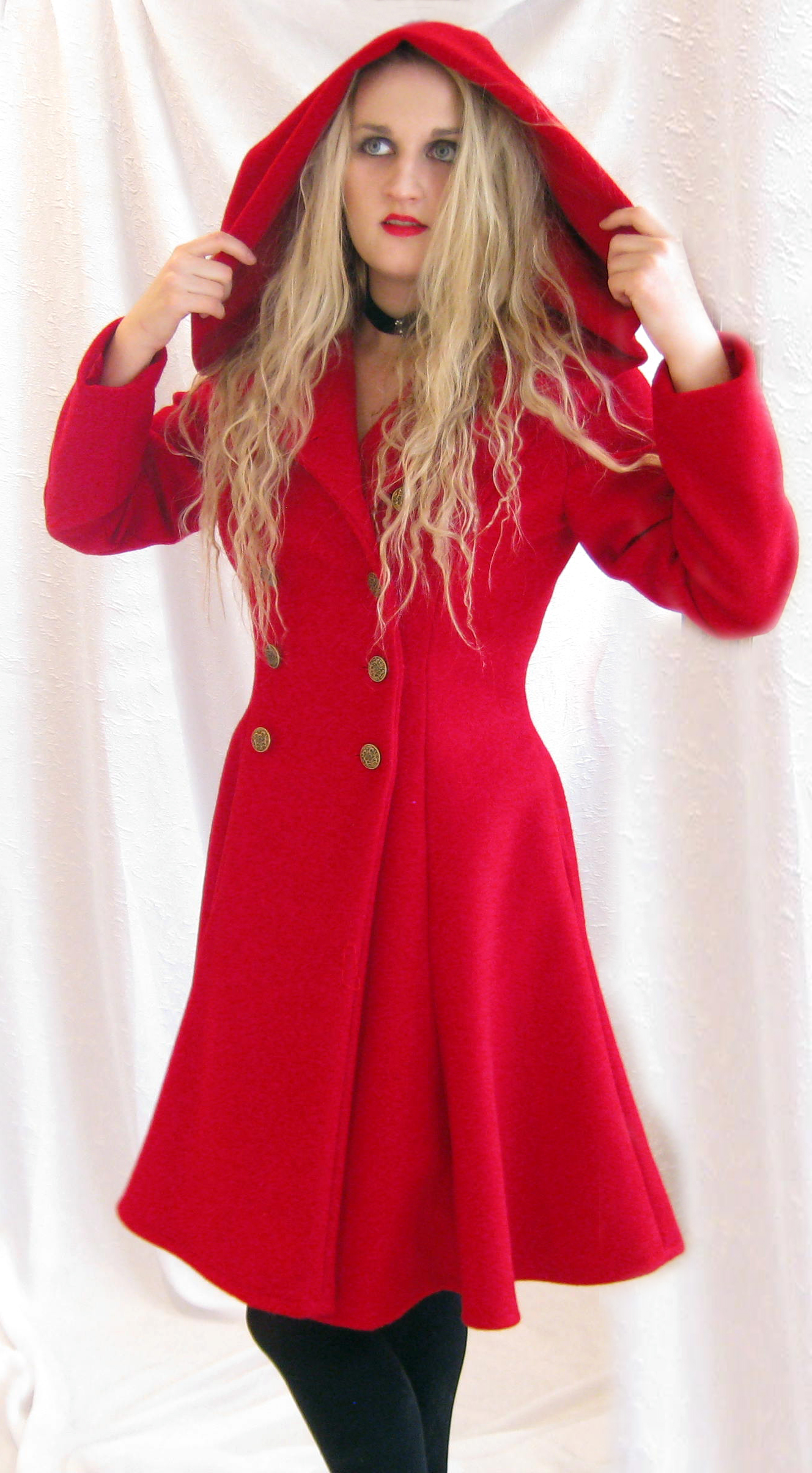 Red Riding Hood Coat, View 2 by ThreeRingCinema on DeviantArt