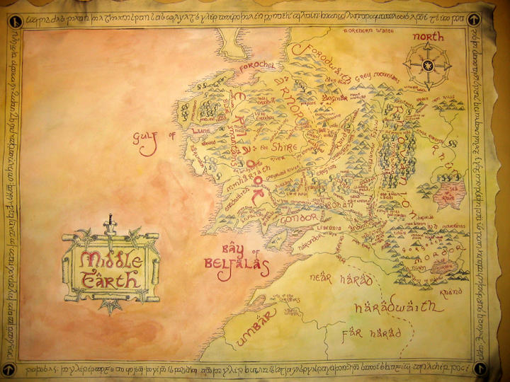 Map of Middle Earth by ThreeRingCinema on DeviantArt
