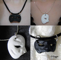 FOR SALE Mask Necklaces by ThreeRingCinema