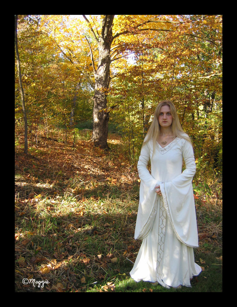 White Wool Gown - Front by ThreeRingCinema