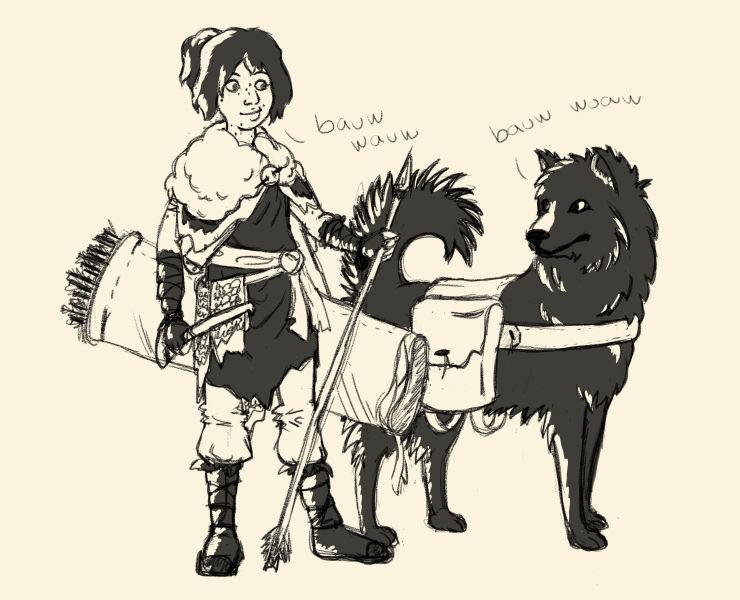 maya and hektor sketch