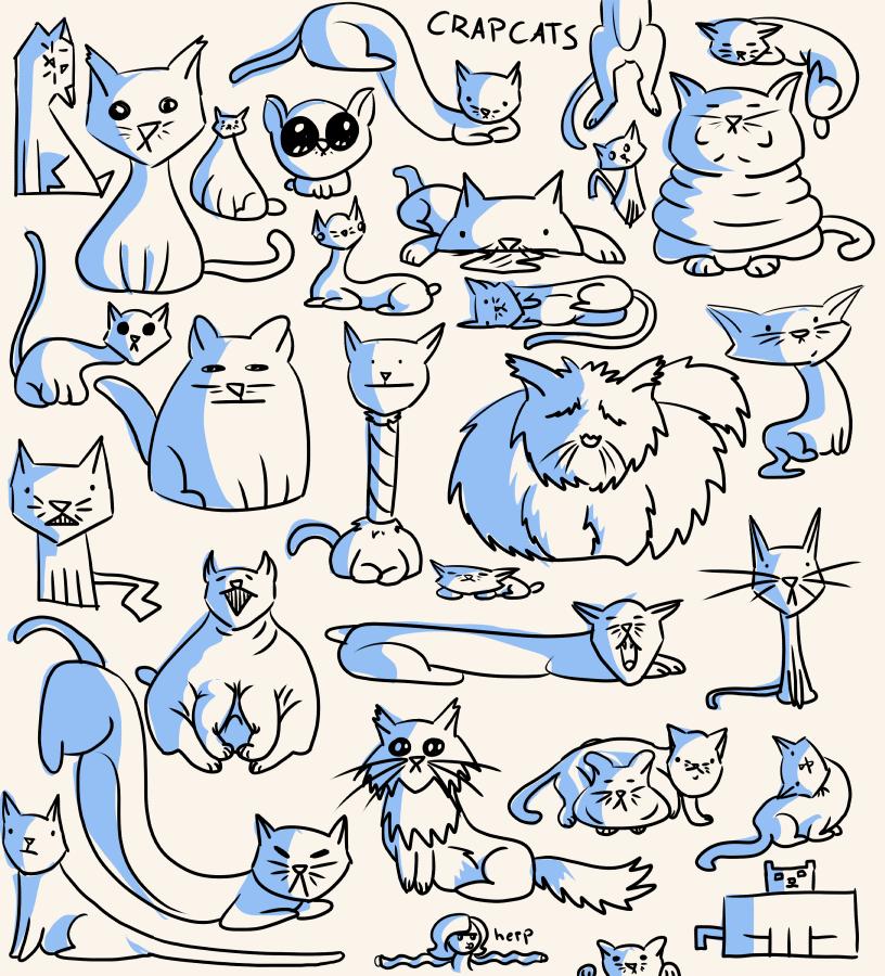crapcats by Deimonian