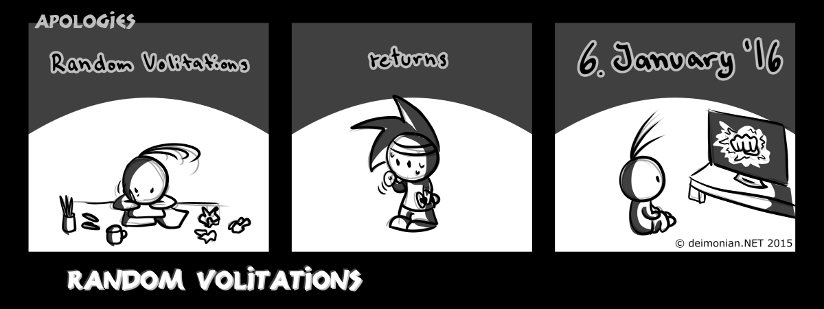 Random Volitations 115 - Apologies by Deimonian