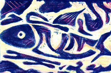 blue fish by laserboyjc