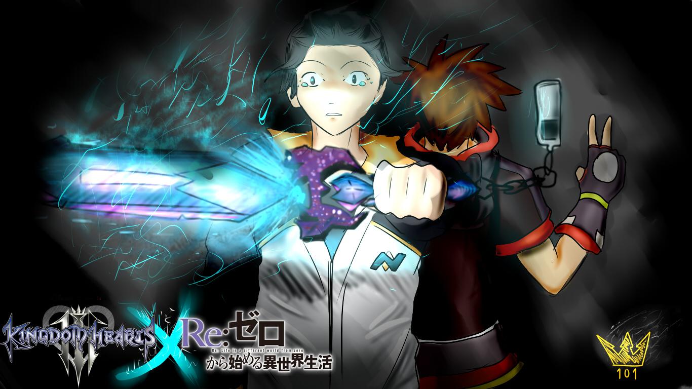re zero x kingdom hearts preview by sora101ven on deviantart
