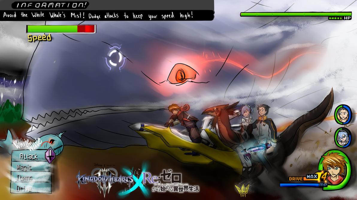 Sora Kingdom Hearts Lineart : Re zero kingdom hearts battle the white whale by sora ven on
