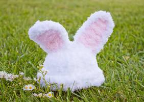 Fluffy baby bunny beanie by theaquallama