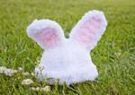 Fluffy baby bunny beanie