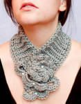Adjustable elegant grey cowl
