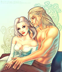 Zevran and Ayla by GunnerGurl