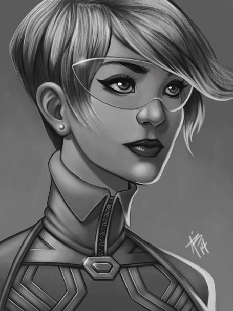 SciFi portrait by GunnerGurl