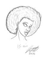 Afro - 15 min Sketch by DeForrest
