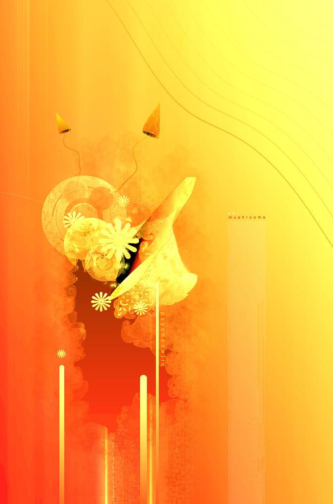 psychadelic mushrooms by Feni-x