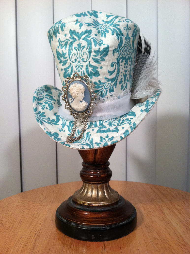 Victorian Blue Top Hat by Cephalopunk