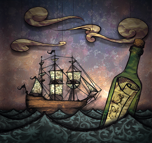 CD-Cover 'Message from another Boat' by CaligariMarte