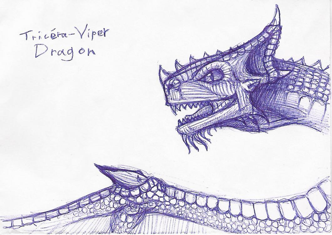 Tricera Viper Dragon by CaligariMarte