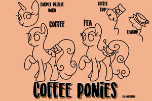 HoloCoffee/ Tea Ponies (Closed Species) PART 1 by Angel-Coffee