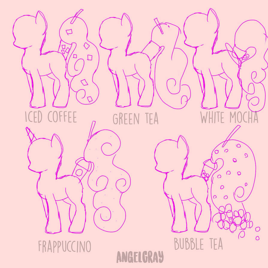 Rare And Uncommon HoloCoffee or Tea Ponies ref by Angel-Coffee
