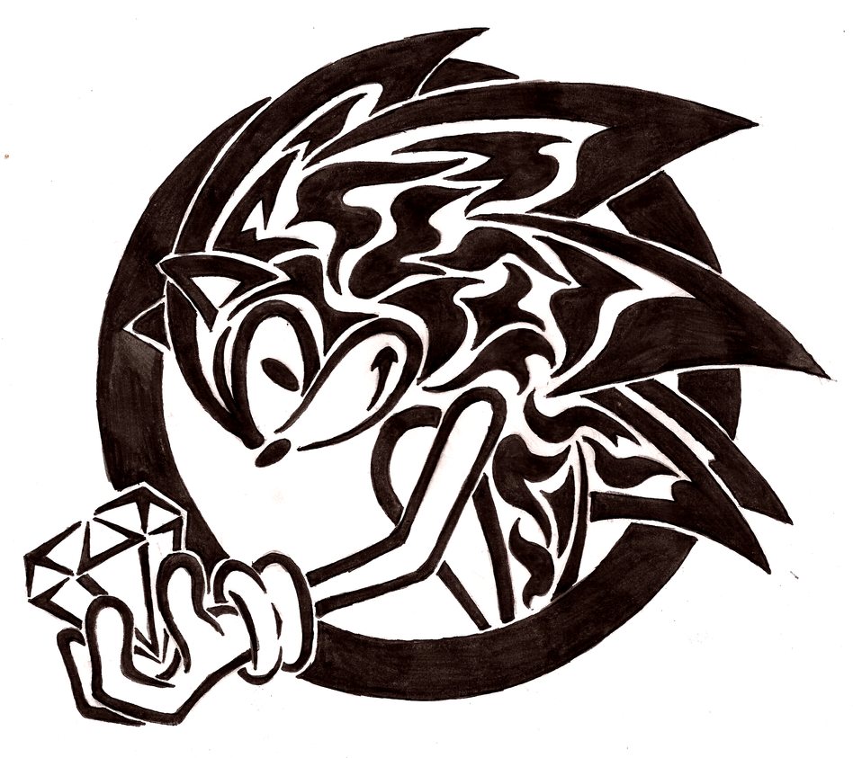 sonic tribal   t  by flamerxmagofire on deviantart