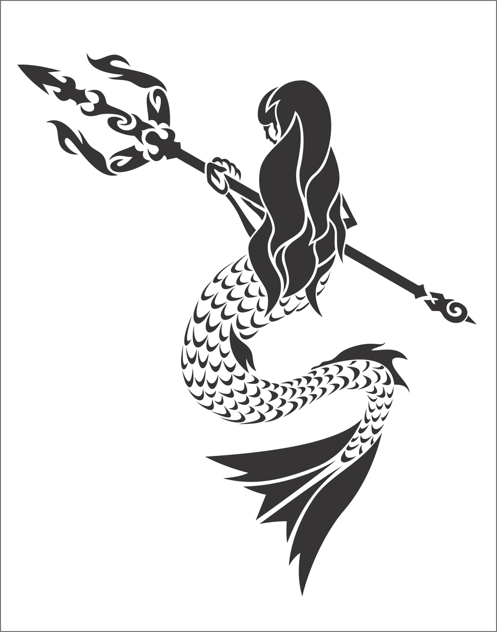 Tribal Mermaid by FlamerXMagofire on DeviantArt