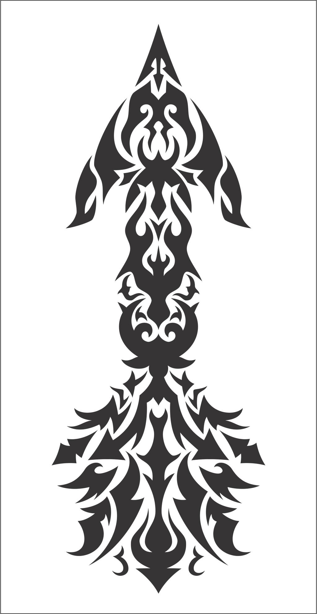 Tribal Design Arrows Tattoo