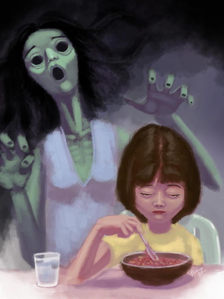 Ghost Dinner by spn-arts