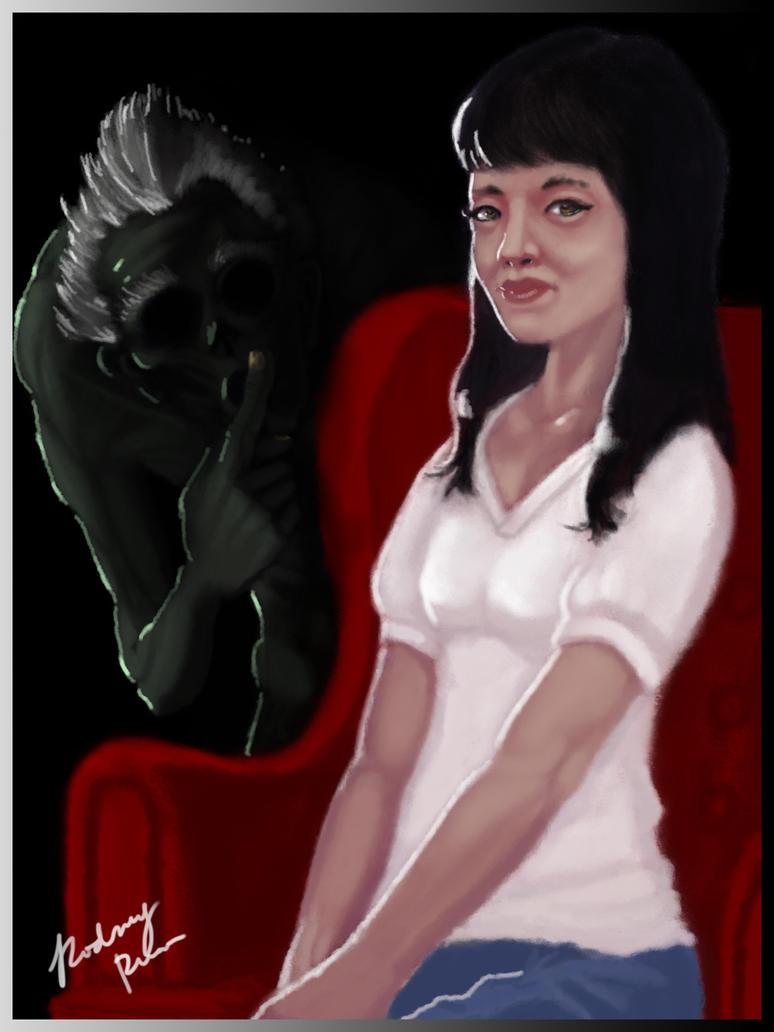 Ghost in Girl's Portrait by spn-arts
