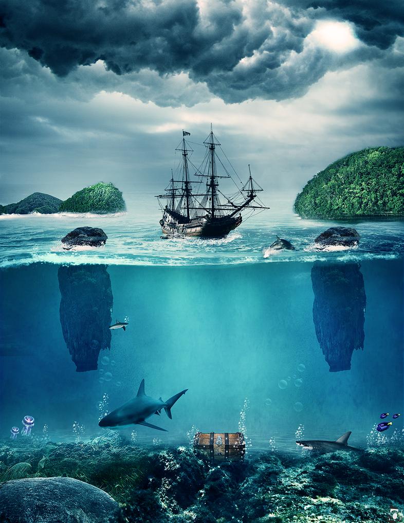 underwater treasure by danielsstyle on deviantart