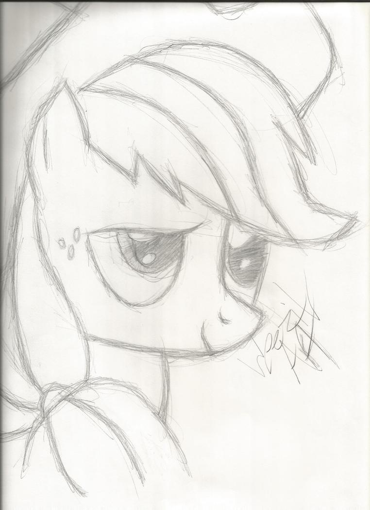 Applejack Sketch by YeaImABrony-GotAProb