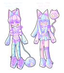 - REDUCED OPEN - NO. 9-10 Sun/Moon Kitty Adopts by SleepyEuphie