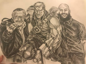 Commission piece in pencil