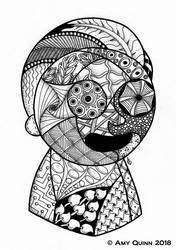 Morty Zentangle by KemicalReaxion
