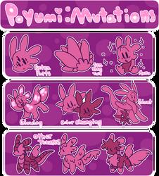 Poyu Mutations by ShadowmonStudios