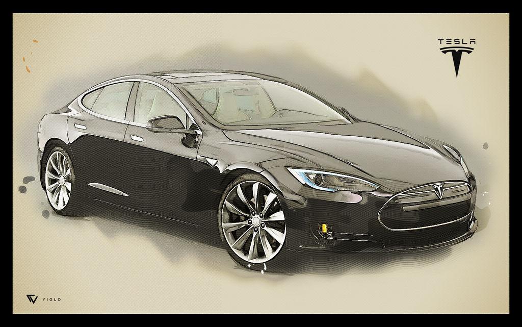 Tesla Drawing by yiolo