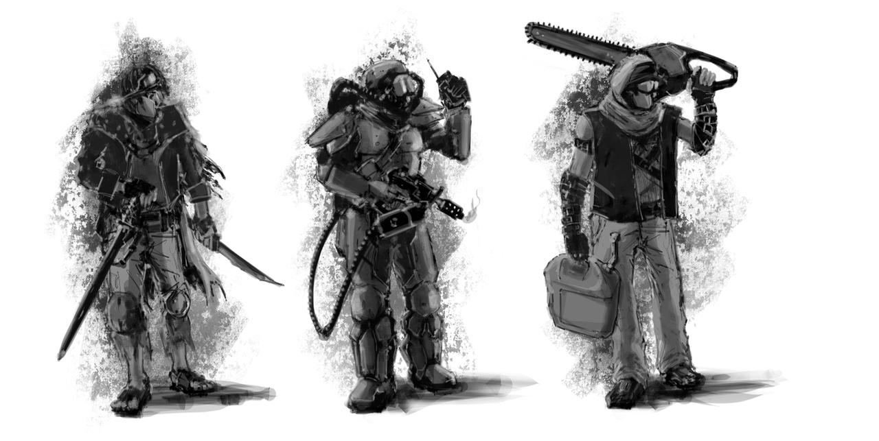 Post Apoc Man 02 SKETCH by psypher101