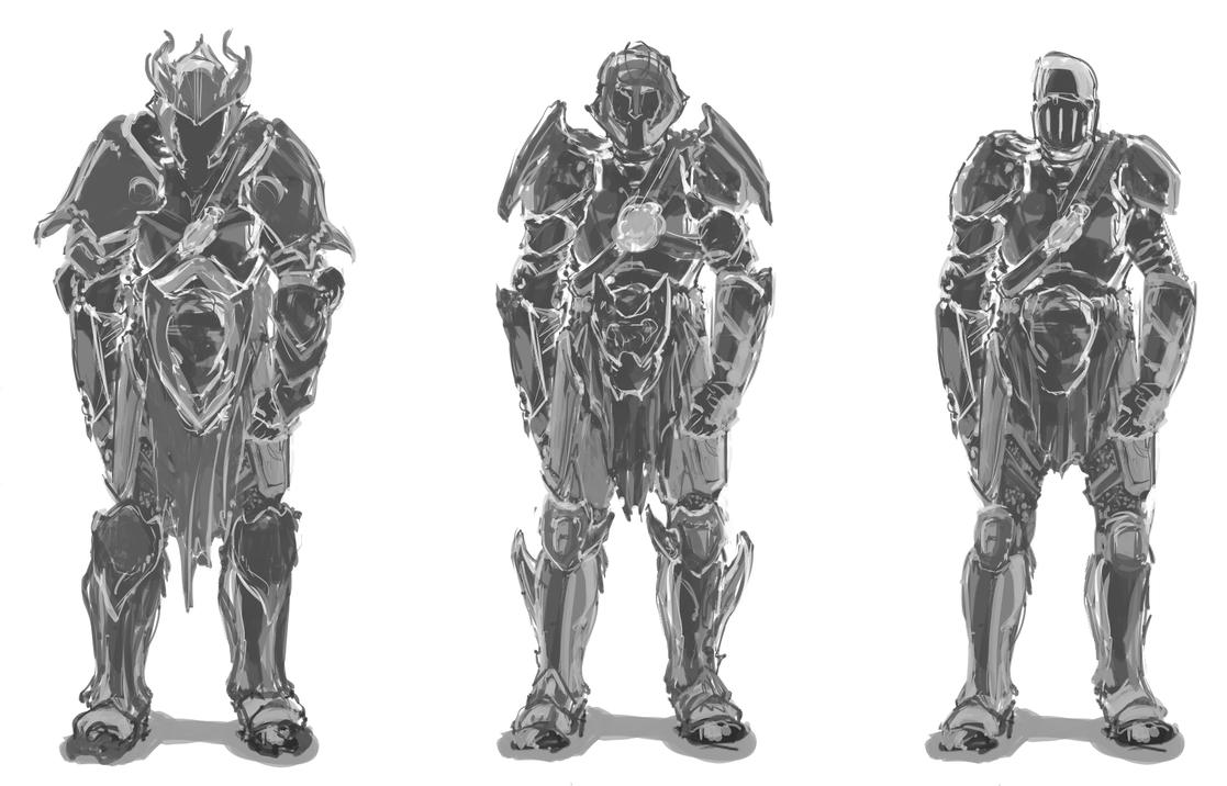 Knight Armor Design Knight Armor Sketches by
